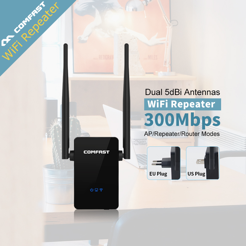 COMFAST 300Mbps Wireless WIFI Router Repeaters Antenna Wi fi Extender Signal Amplifier 802 11N B G