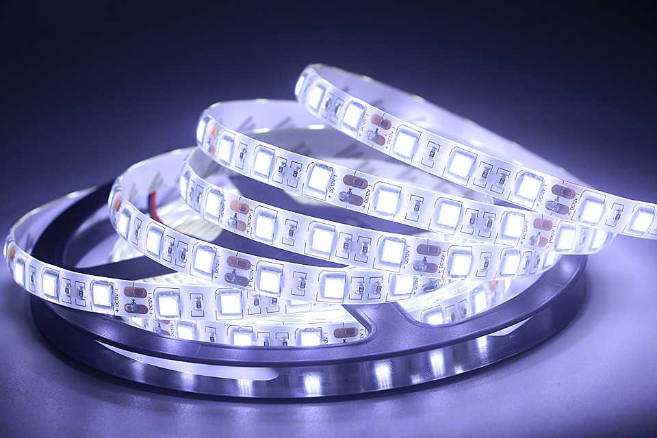 SMD 5050 Flexible LED Strip Light 12 V LED Tape Dekorasi Rumah Lampu Putih Hangat Putih/Biru/ hijau/Merah/Kuning/Pink/Biru Es/RGB