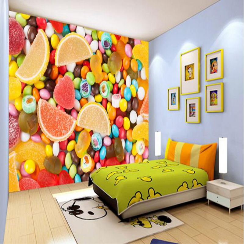 Custom Mural Wallpaper Candy Planet Fantasy Children Room Wallpaper Wall Paper Kids Wall Papers Living Room Sofa Backdrop Photo custom baby wallpaper snow white and the seven dwarfs bedroom for the children s room mural backdrop stereoscopic 3d