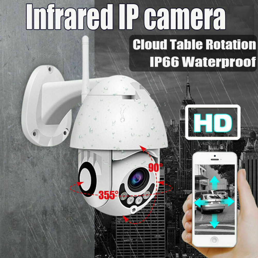 FHD 1080P WiFi IP Camera Wireless Wired PTZ Outdoor waterproof Speed Dome CCTV Security Camera App