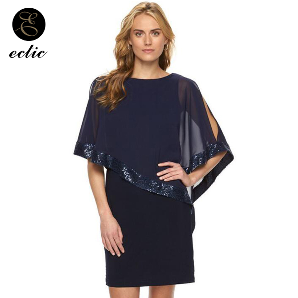 Rose Gold Sequin Dress Overlay Robe Femme Ete 2019 Summer Dresses For Women  Chiffon Sukienka Vetement ccb3a7500095