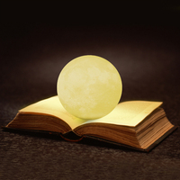 20cm New Creative 3d printing usb led magical moon night light led lamp use for Children Baby Kids Bedroom Christmas Decoration