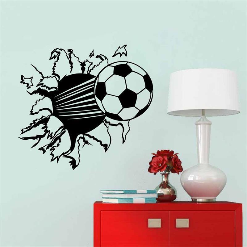 Soccer Ball Football Vinyl Wall Sticker Decal Kids Room Decor - Vinyl wall decals kids
