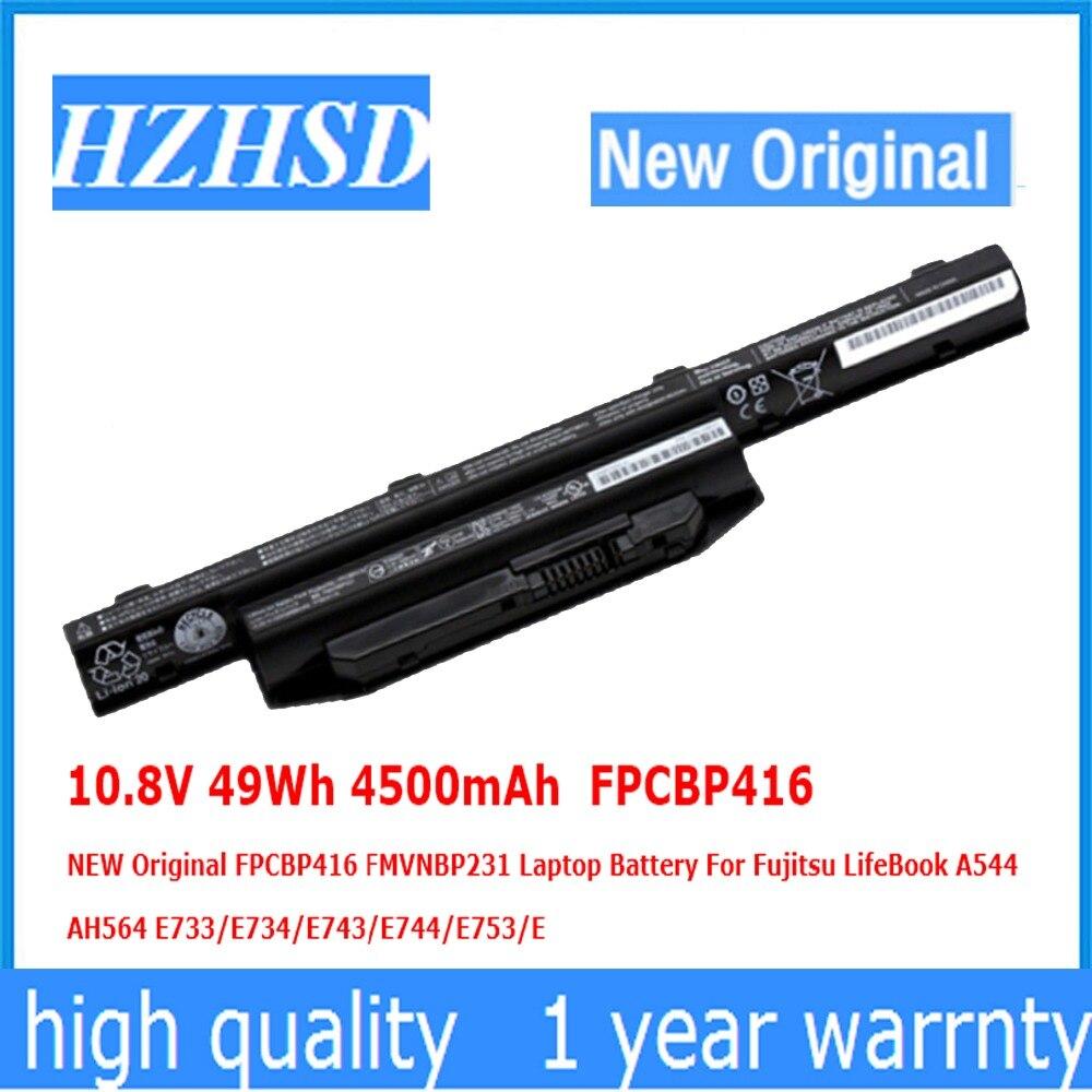 10.8 V 49Wh 4500 mAh FPCBP416 NOUVEAU Original FPCBP416 FMVNBP231 batterie d'ordinateur portable Pour Fujitsu LifeBook A544 AH564 E733/E734/E743/