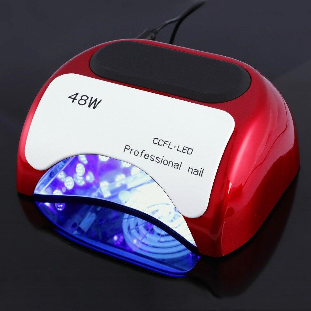 Professionnel 48 w nail led lampe uv lampe nail sèche-Polonais de Gel Traitant La Lumière avec Capteur Automatique