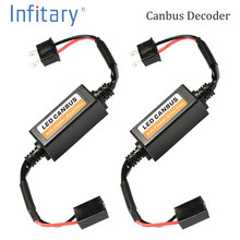 2pcs LED Canbus Decoder Error Free for LED Car Headlight Bulb Kits for Lamps H4 H7 H1 H11 9006 9007 Adapter Anti-Flicker(China)