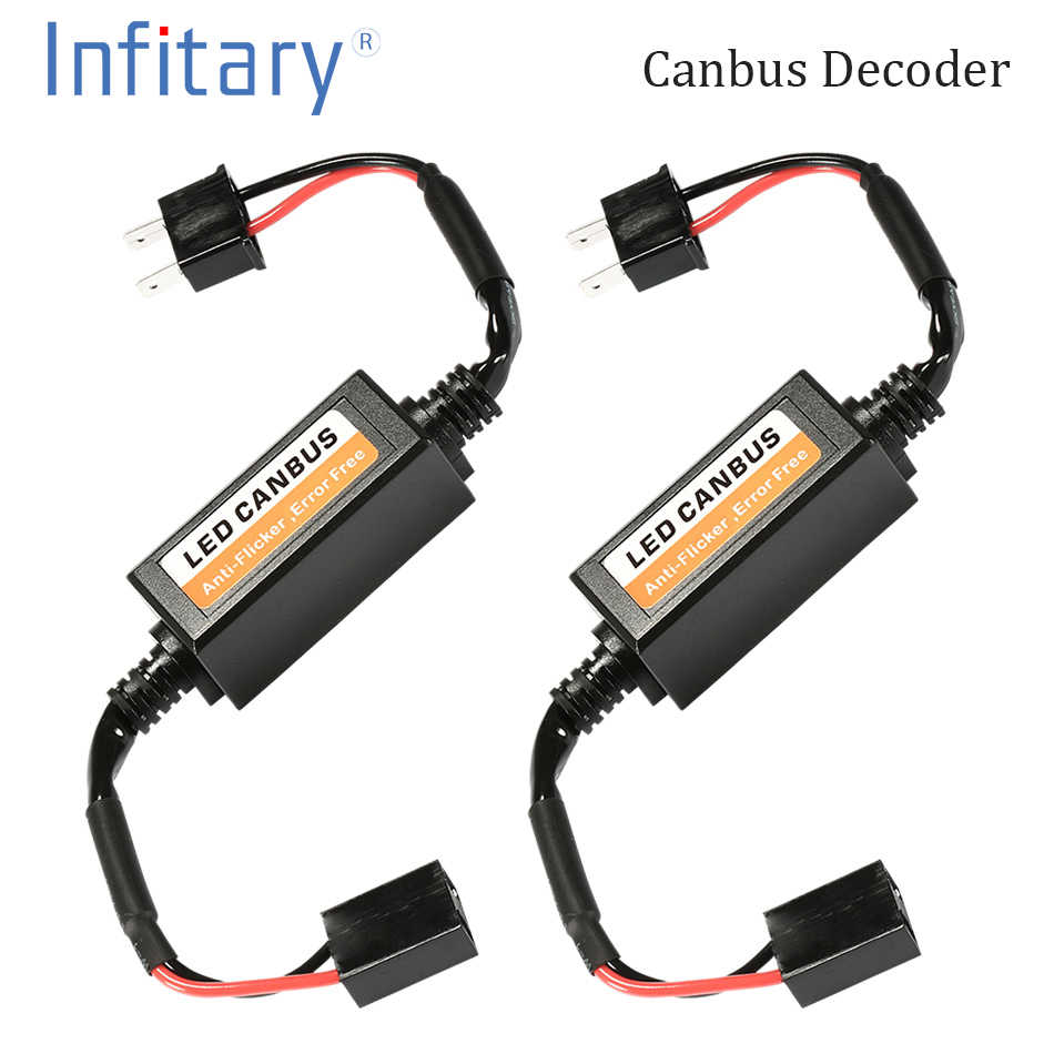 2pcs LED Canbus Decoder Error Free for LED Car Headlight Bulb Kits for Lamps H4 H7 H1 H11 9006 9007 Adapter Anti-Flicker