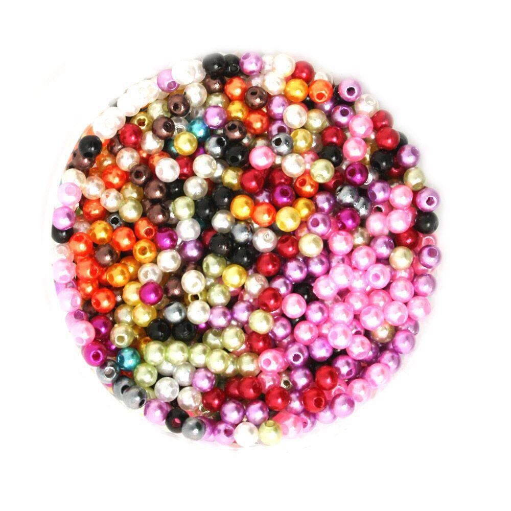 Оптовая продажа 4-10 мм диаметр. Случайный Разноцветные Круглый жемчуг имитация Пластик жемчуг Бусины для вас DIY dh-bsg01