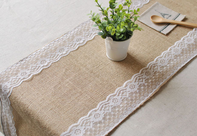 5 unidslote barato boda caminos de mesa arpillera yute arpillera camino de mesa de