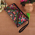 XIYUAN BRAND women ladies ethnic embroidered clutch vintage bags canvas embroidery handmade purses and handbags wallet