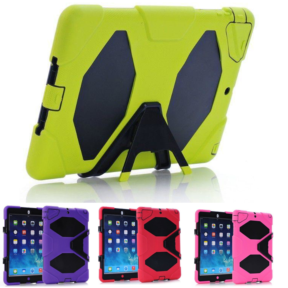 Shockproof / Dropproof Stand Case Cover For ipad air 2 9.7'' Protective Case for ipad 6 w/ Kickstand for Kids Children kinston kst91872 ladybug petunia w rhinestones pattern pu case w stand for iphone 6 multicolored