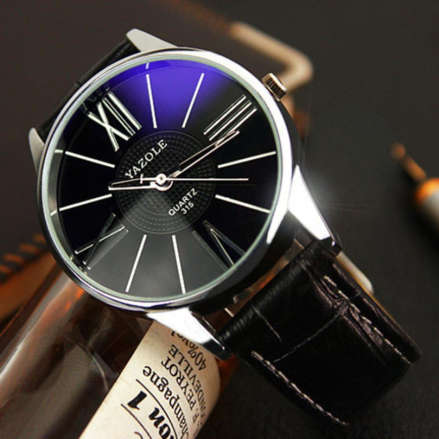 Mens Watches Top Brand Luxury PU Leather Stainless Steel Dial Quartz Wrist Watch Relogio Masculino Dropshipping pu leather strap wrist watches for men luxury stainless steel dial quartz watch mens sports business watch relogio masculino lh
