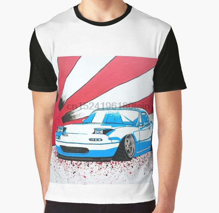 US $13 99 |All Over Print 3D Women T Shirt Men Funny tshirt Blue Tuner  Miata with Japanese Flag Graphic T Shirt-in T-Shirts from Men's Clothing on