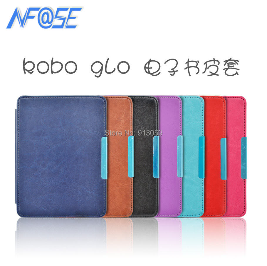 Ultra slim pu leather cover case with magnet closure for Kobo Glo 6'' ereader ultra slim pu leather cover case with magnet closure for kobo glo 6 ereader