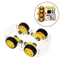 Smart car kit 4WD умный робот шасси автомобиля Наборы с Скорость кодер и Батарея коробка для Arduino DIY Kit