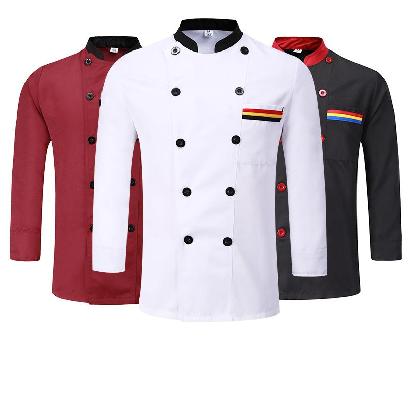 Cake Restaurant Roast Chef Overalls Man Kitchens Cooking Uniforms Long Sleeves Shirt Chef Western Apron Hat Autumn Custom Suits