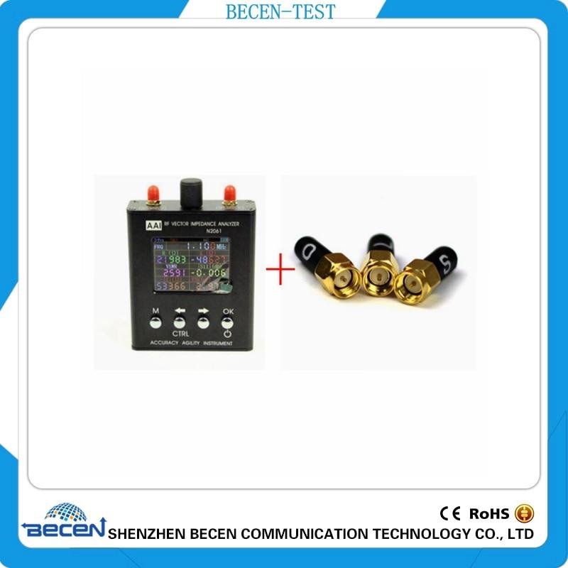 Anglais verison N2061SA UV RF ANT SWR Antenne Analyzer Compteur Testeur 1.1 mhz-1.3 ghz + 3.5mm SMA-J d'étalonnage (L.O.S)