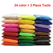 36 Color Air Dry Light Clay With 3 Tool Educational Toy Colorful Plasticine Polymer Creative DIY Clay Toy Kid Girl Birthday Gift(China)