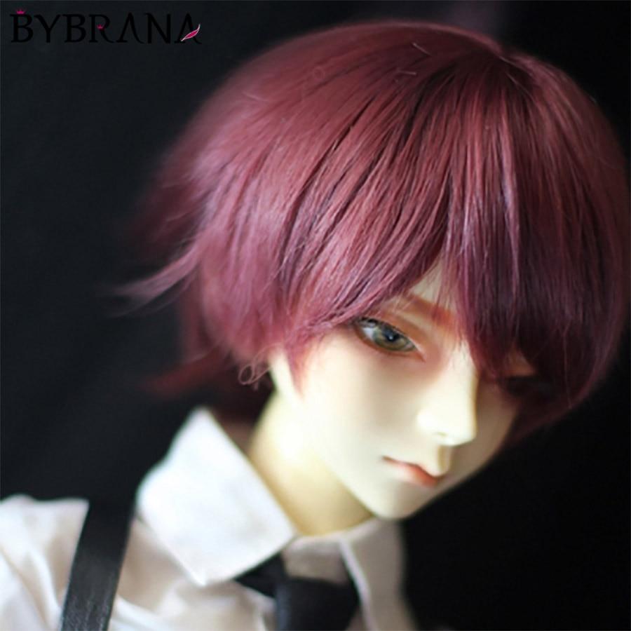 Bybrana 1pc Bjd Wig Boys Short Straight Hair Doll 1/3 1/4 1/6 Free Shopping
