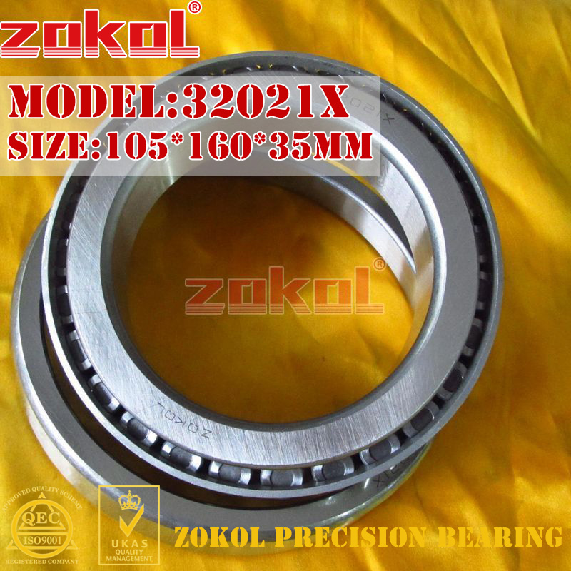 ZOKOL 32021 X bearing 32021X 2007121E Tapered Roller Bearing 105*160*35mmZOKOL 32021 X bearing 32021X 2007121E Tapered Roller Bearing 105*160*35mm
