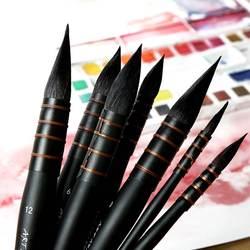 1 шт ручной белка волос кисти для акварели Краски Кисть французский Стиль острым Краски состав щетки для водостойкие принадлежности для