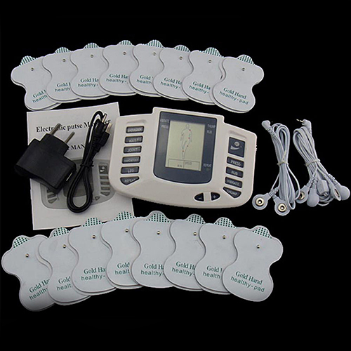 Electrical Stimulator Body Relax Muscle Therapy Massager Pulse Acupuncture +16 Pads 2017 hot sale mini electric massager digital pulse therapy muscle full body massager silver