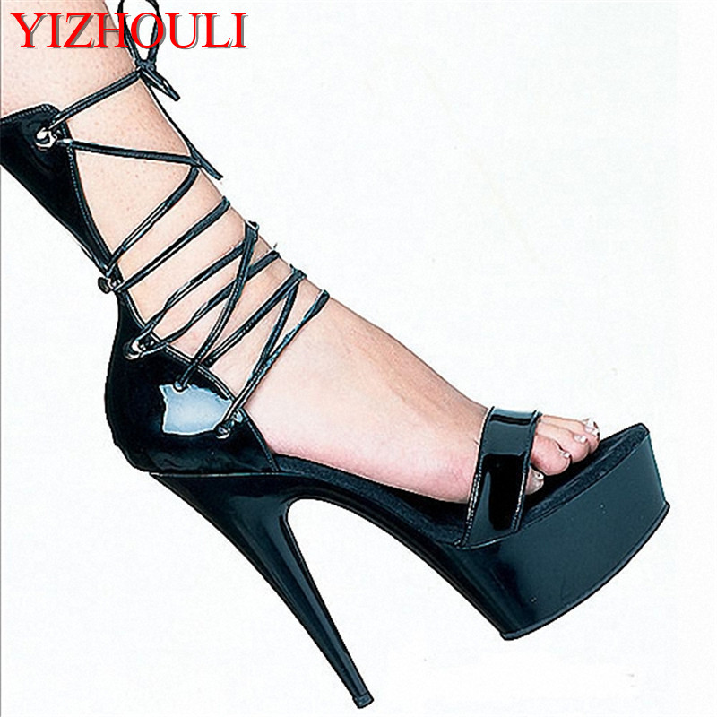 Sexy Gladiator Style PU Leather 15cm High Heel Shoes Platform Sandals, Dress Shoes, Party / Wedding ShoesSexy Gladiator Style PU Leather 15cm High Heel Shoes Platform Sandals, Dress Shoes, Party / Wedding Shoes