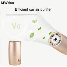 MWdao car air purifier vehicle air ionizer cleaner fresh negative ion ozone odor eliminator usb for car цена и фото