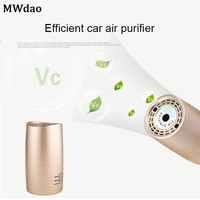 MWdao car air purifier vehicle air ionizer cleaner fresh negative ion ozone odor eliminator usb for car