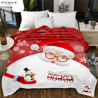 XYZLS Bedspread Blanket Christmas Halloween Soft Flannel Blanket On Sofa/Bed/Travel Portable Plaids 150x200cm