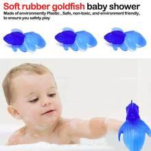 Random Color 10 Pcs/Lot Rubber Gold Fish Baby Bath Toys Small Simulation Goldfish Water Toy Fun Kids Swimming Beach