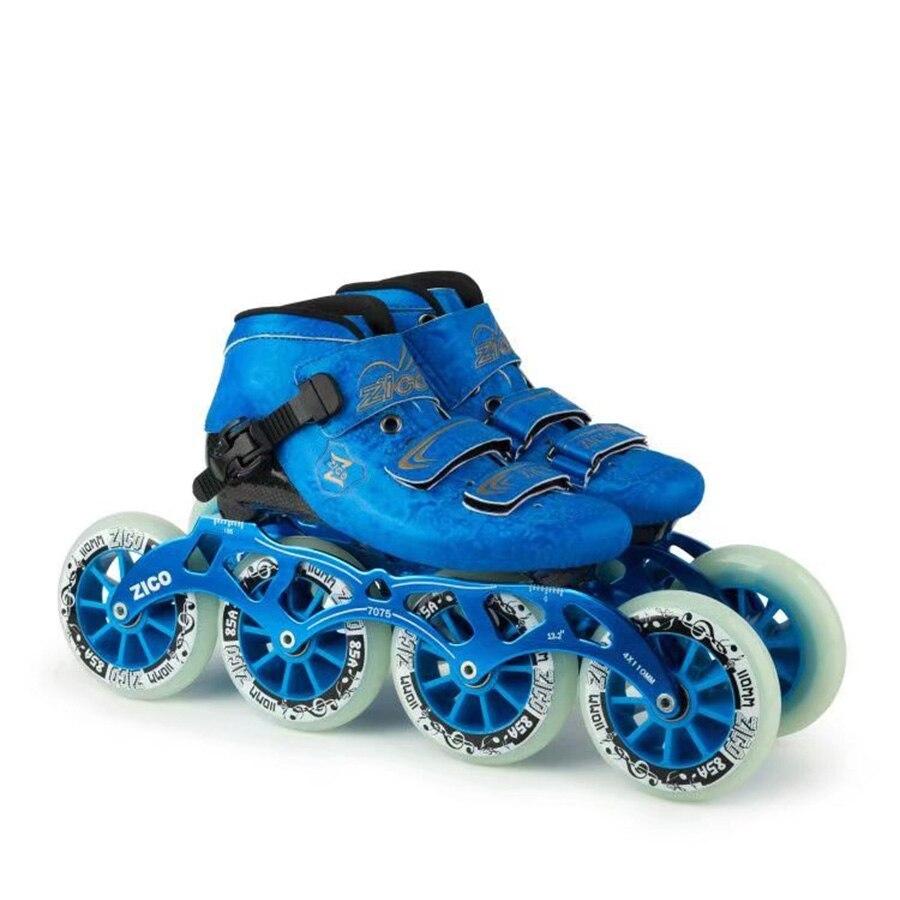 EUR taille 30-44 vitesse patins à roues alignées fibre de carbone compétition Skate 4 roues Street Racing patinage Patines similaires à Powerslide