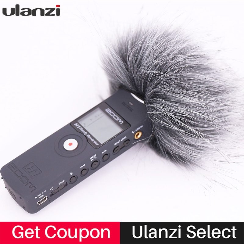 Ulanzi Windshield-Muff Microphone Windscreen Handy-Recorder Zoom H1n Outdoor Deadcat