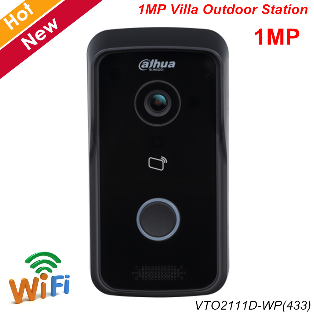 Dahua Video Intercom VTO2111D-WP(433) 1MP Wi-Fi Villa Outdoor Station Support Night Vision And Voice Indication APP Remote