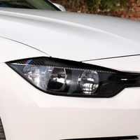 2019 For BMW F30 F31 F32 f33 F343 style 2 pcs Sticker Carbon Fiber Headlight Eyebrows Eyelid Trim Eye Lid Cover Decoration 2012