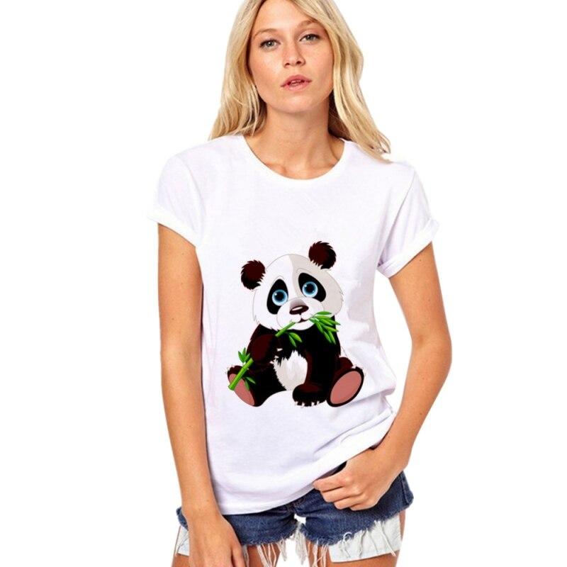 1 Pcs Donne Di Estate Calda Femminile Donne Panda T-shirt A Manica Top T-shirt Di Vendita Sentirsi A Proprio Agio
