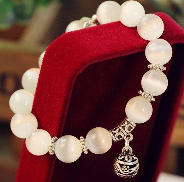 Natural opal beads bracelets crystal fass