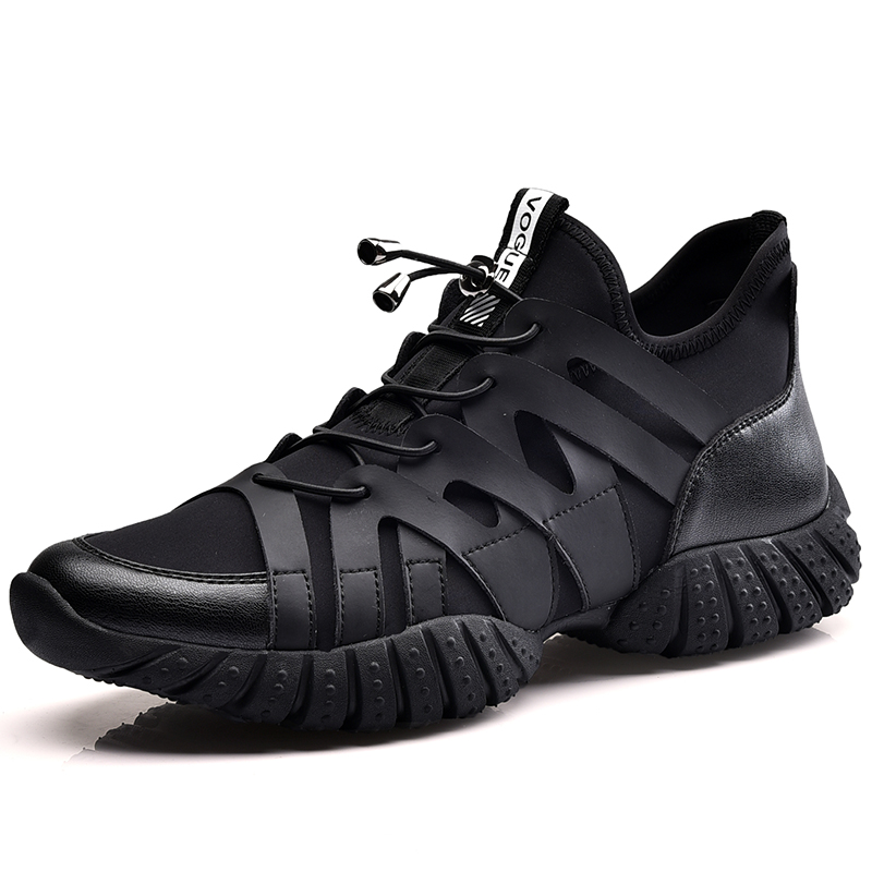 2018 Spring New Style Running Shoes For Men Sports Shoes High Quality Breathable Light Lace Up Outdoor Sneaker Shoes Black