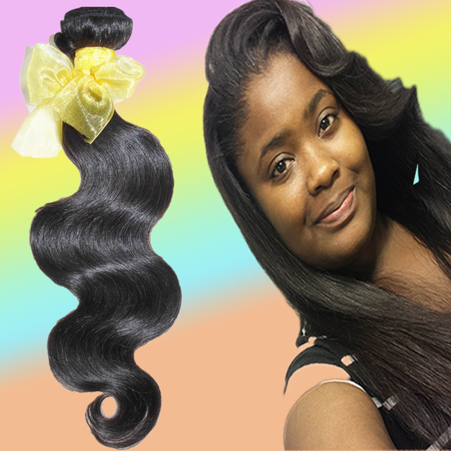 100% positive feedback 3 bundles deal 7A Virgin Cambo-dian Body Wave weave 100% original hu-man hair TOP Quality