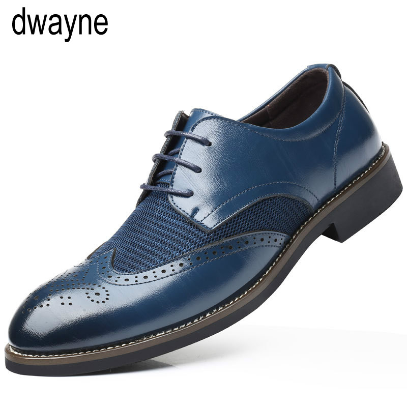 Formal Shoes Summer Mesh Spring Leather Dress Shoes Breathable Men Formal Business Oxfords Plus Size 38-48 For Sale Men Dress Shoes
