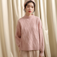Spring New Sweater loose Women Sweaters Fashion Pullover Knitted Solid Sweaters Female Korean Jumper Pull Tops Winter Coat Women