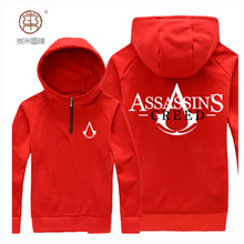Men Assassin Creed Hoodies Street Autumn Winter Jacket With Hat Tracksuit Sweatshirt Game Clothing Large Size Pullover Coats 4XL