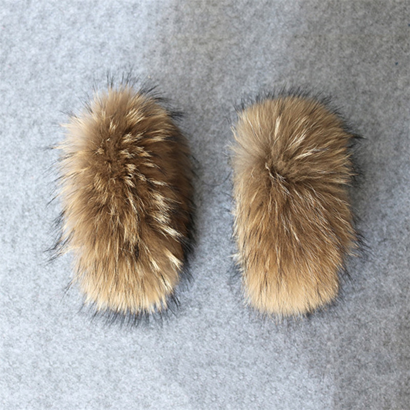Hot Sale 100% Real Genuine High Quality Raccoon Fur Cuffs 30cm Women Hand Arm Warmers Real Raccoon Fur Cuffs L#71