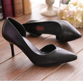 Hot Sale women sexy red bottom pointed toe wedding high heel pumps thin heels  size 34-39 ladies shoes
