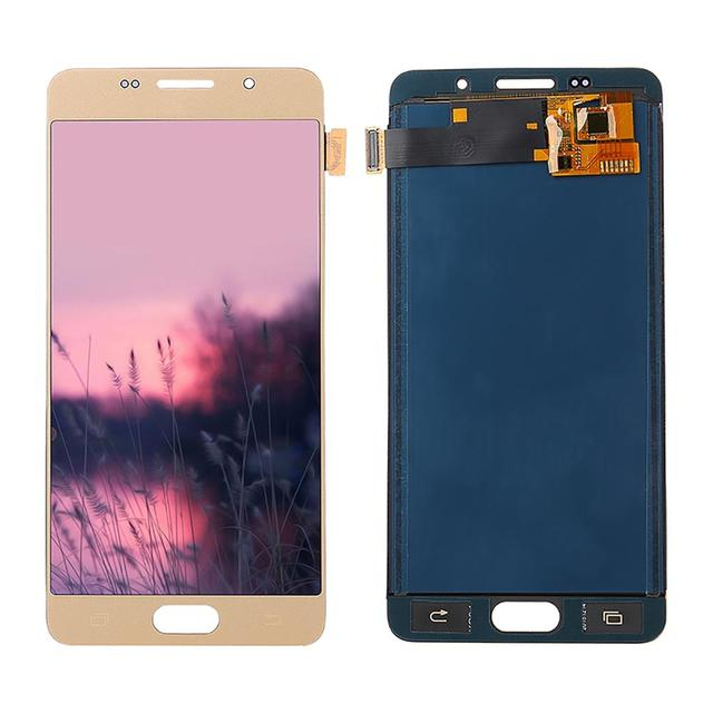 A510 شاشات lcd لسامسونج غالاكسي A5 2016 A510 A510FD A510F A510M شاشة الكريستال السائل مجموعة المحولات الرقمية لشاشة تعمل بلمس استبدال 100% اختبار