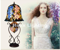Free Shipping Tiffany Table Lamps Luxurious D35cm H77cm E27 LED Bedside Lamps Living Room Decoration Night
