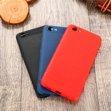 Vivo V7 V7Plus Y53 Y69 Case Colored Leather Skin Grain Soft Silicone TPU Gel Back Cover Phone for V7+