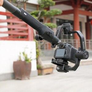 Image 2 - 1 قطعة ألياف الكربون تمديد قضيب القطب ل DJI Ronin S ملحق Feiyutech G5 G6 Zhiyun رافعة 2 3 weebell مختبر تمديد تلسكوبي بار