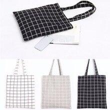 THINKTHENDO New Reusable Cotton Linen Eco Friendly Shopping Bag Original Ladies Handbag Casual Tote 3 Color