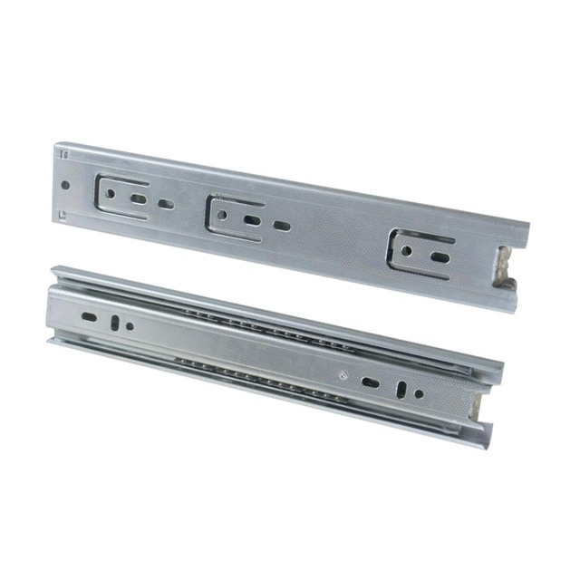 2pcs 18inch Drawer Slides 45mm Width Cold-Rolled Steel Fold Telescopic Drawer Runner Ball Bearing Furniture Cabinet Sliding